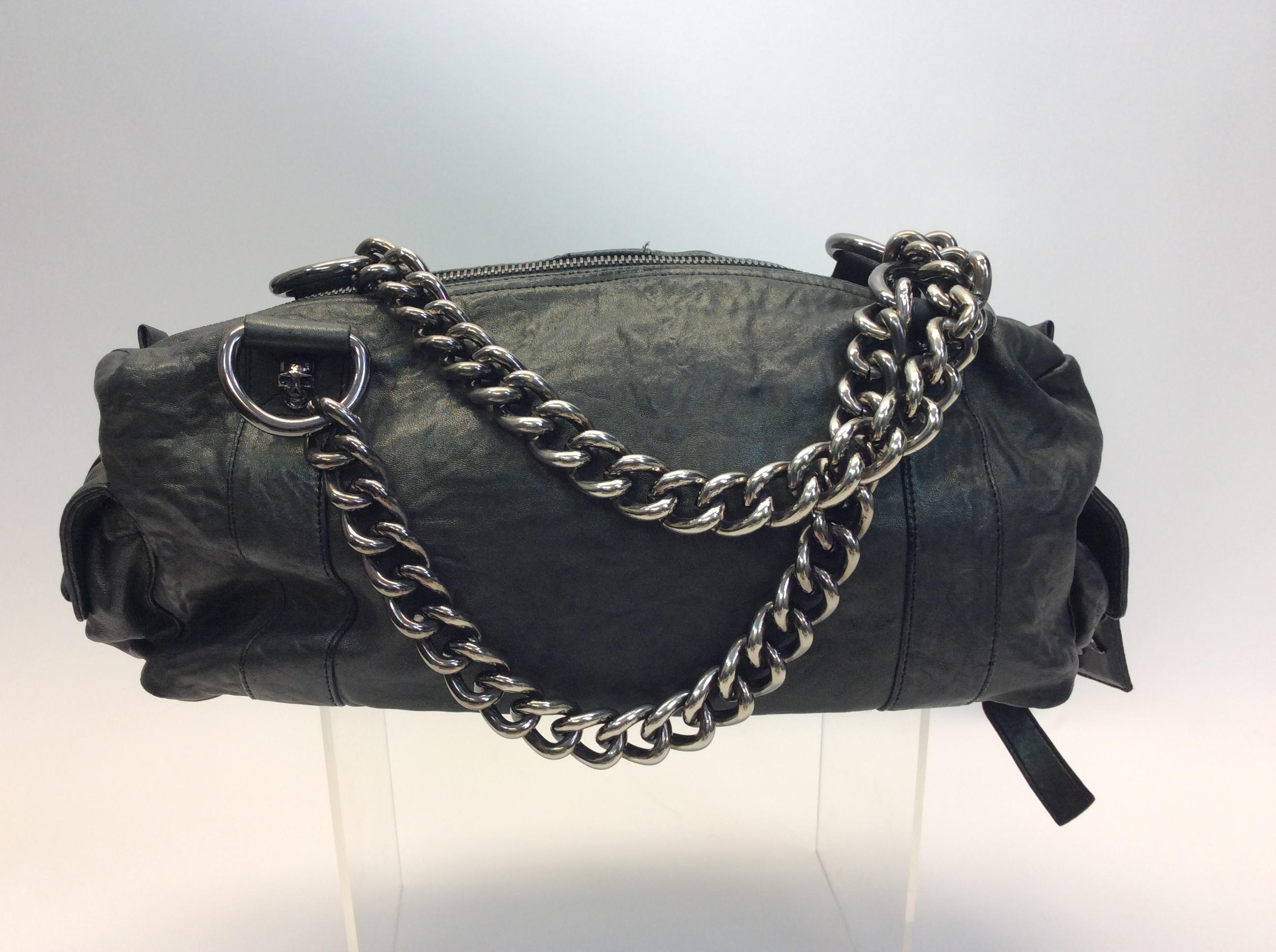 e6e40f954120 Thomas Wylde Green Leather Skull Handbag For Sale at 1stdibs