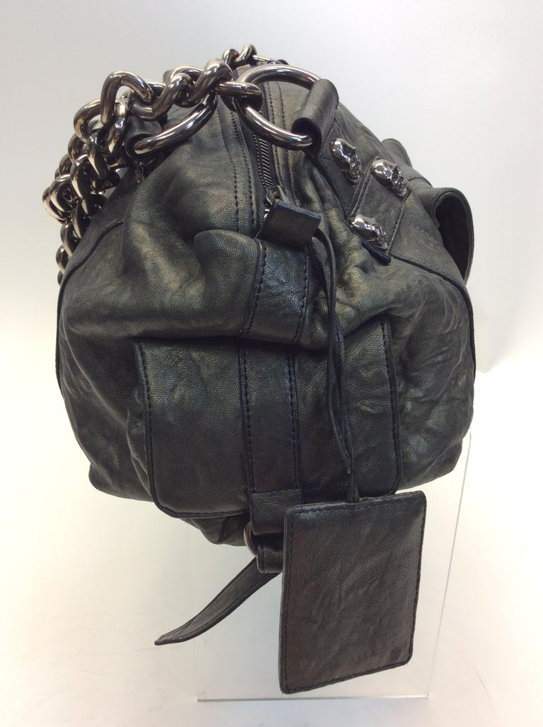 10995ddfacb4 Thomas Wylde Green Leather Skull Handbag In Good Condition For Sale In  Narberth