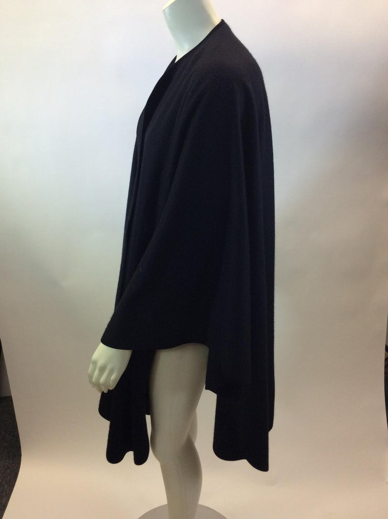 Loro Paina Black Cashmere Shawl $699 Made in Italy 100% Cashmere Length 38