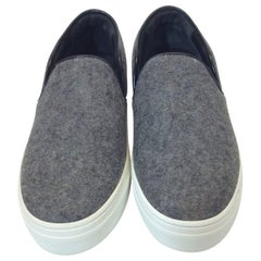 Celine Skate Slip on Grey Felt Sneakers