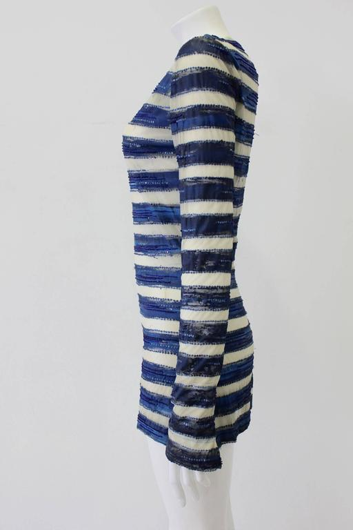 Very Rare Atelier Versace Hand Painted Tunic Mini Dress Spring 1993 In New Never_worn Condition For Sale In Athens, Agia Paraskevi