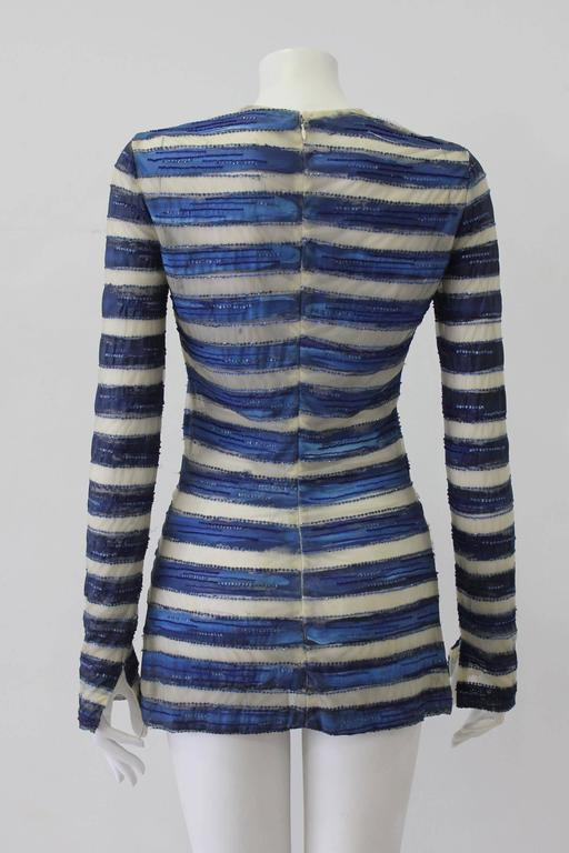 Women's Very Rare Atelier Versace Hand Painted Tunic Mini Dress Spring 1993 For Sale