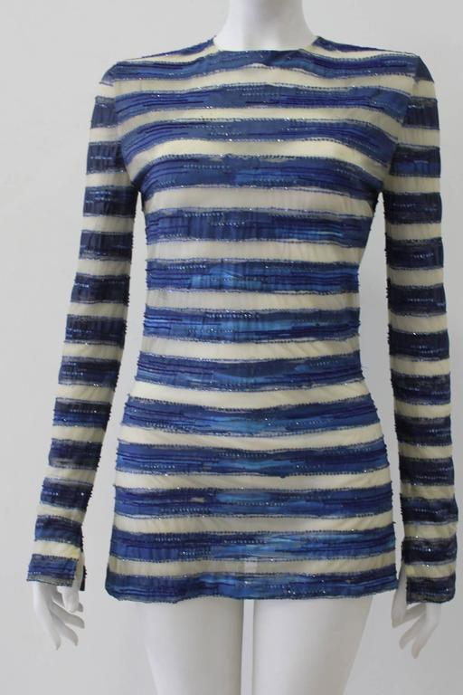 Purple Very Rare Atelier Versace Hand Painted Tunic Mini Dress Spring 1993 For Sale