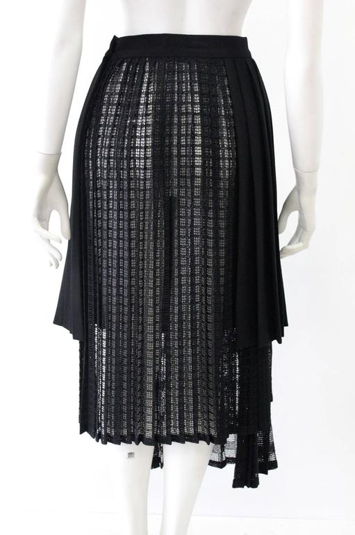 Unique Gianni Versace Couture Layered Pleated Net Skirt Spring 1994 2