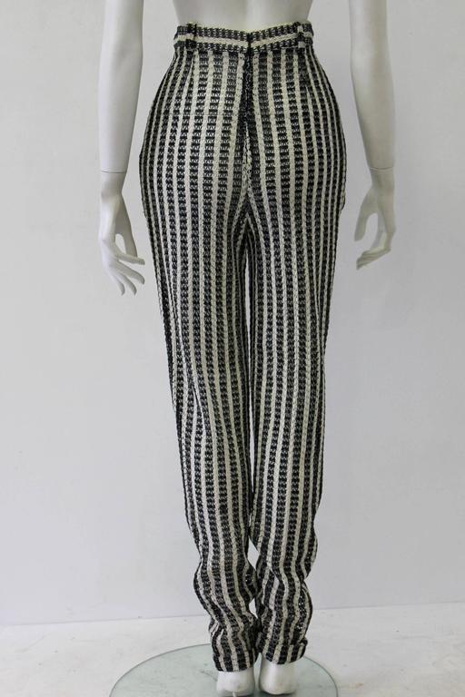 Unique Gianni Versace Couture Punk Striped Pants Fall 1993 3