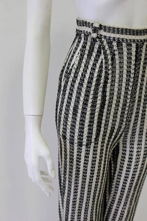 Unique Gianni Versace Couture Punk Striped Pants Fall 1993 4