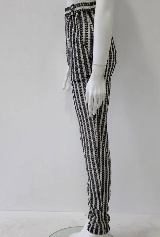 Unique Gianni Versace Couture Punk Striped Pants Fall 1993 2
