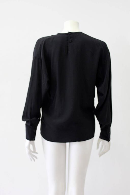 Very Rare Gianni Versace Silk Plisse Printed Shirt Fall 1989 2