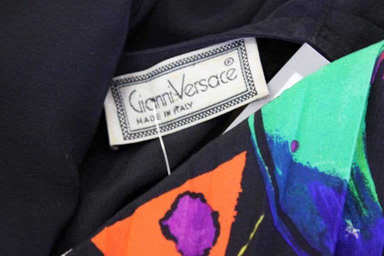 Very Rare Gianni Versace Silk Plisse Printed Shirt Fall 1989 5