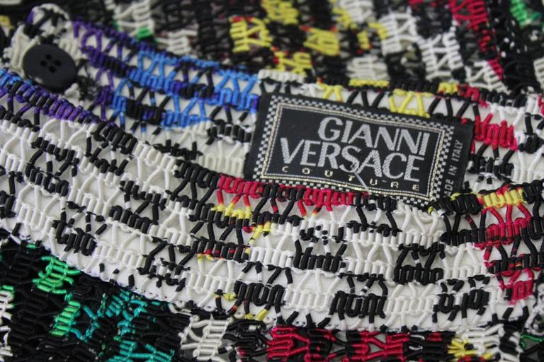 One Of A Kind Gianni Versace Couture Punk Multi-Coloured Pants Fall 1993 For Sale 1
