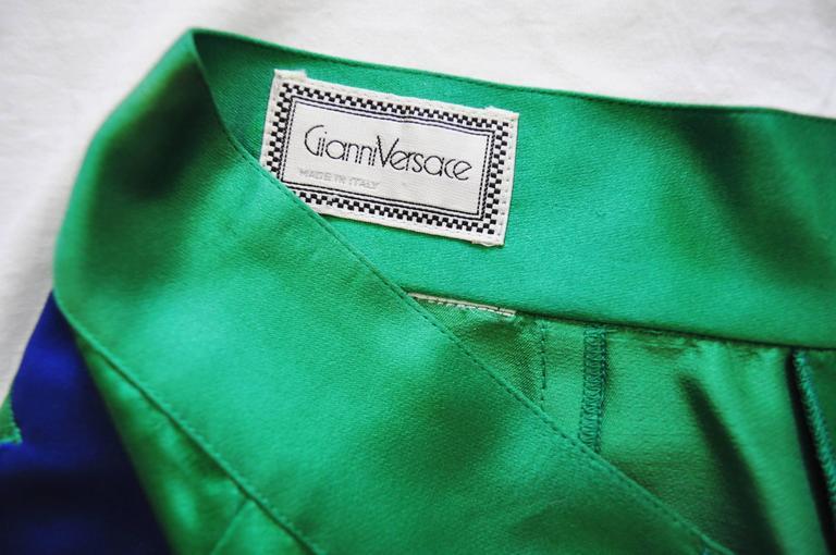 One Of A Kind Gianni Versace Silk Applique Jodhpurs Spring 1990 7
