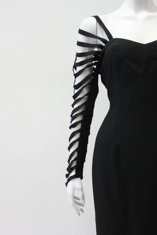 Unique Sophie Sitbon Black Cut Out Sleeve Dress 5