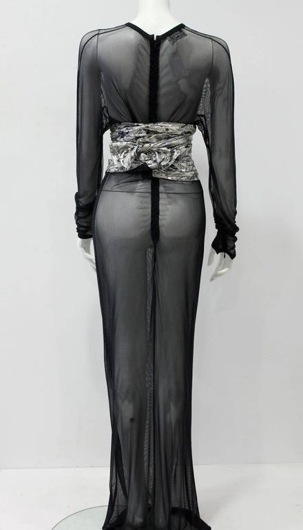 Women's Early Gianni Versace Silk Lame Printed Belt Spring 1983 For Sale