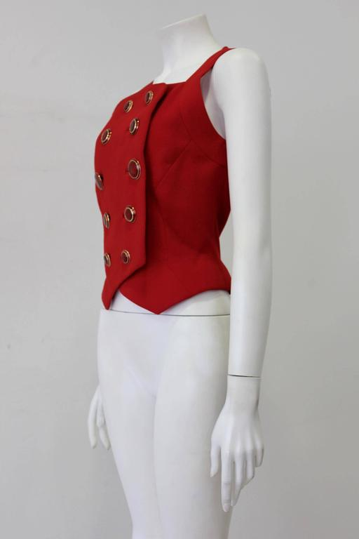 Rare Gianni Versace Couture Nautical Waistcoat Spring 1993 3