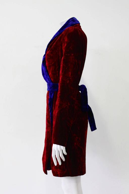 Istante By Gianni Versace Crushed Velvet Evening Coat Fall/Winter 1997 2