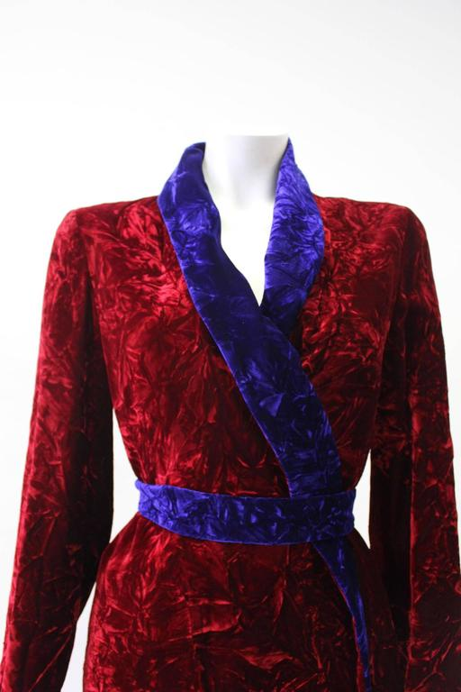 Istante By Gianni Versace Crushed Velvet Evening Coat Fall/Winter 1997 6