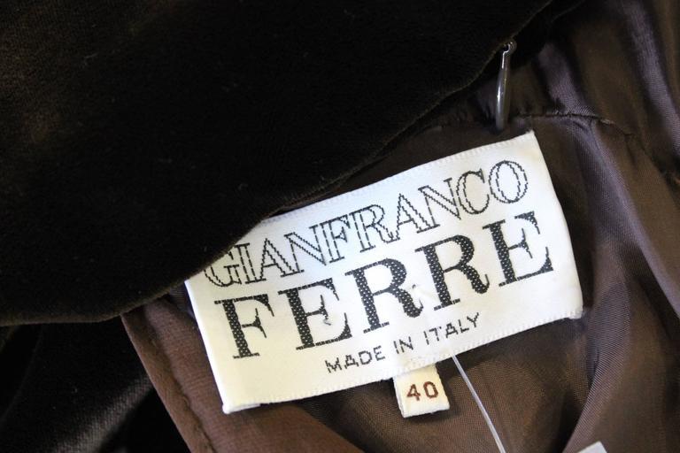 Museum Quality Gianfranco Ferre Silk Velvet Panel Evening Gown 1989 6