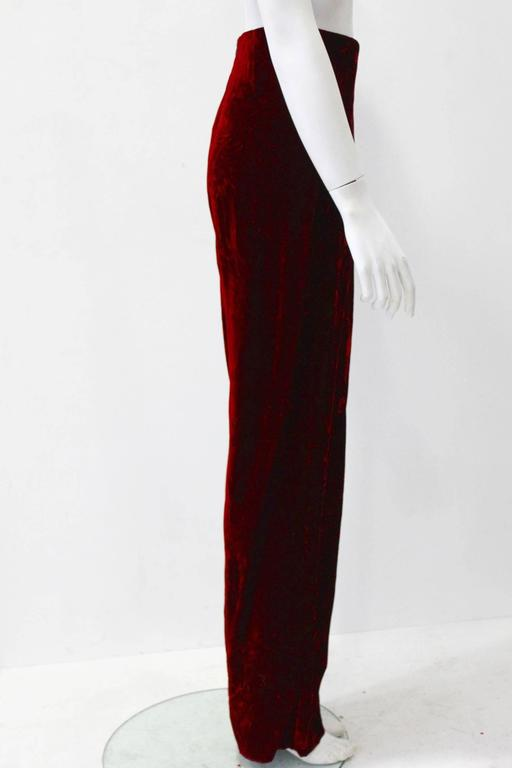 Istante By Gianni Versace Crushed Velvet Pants Fall/Winter 1997 2