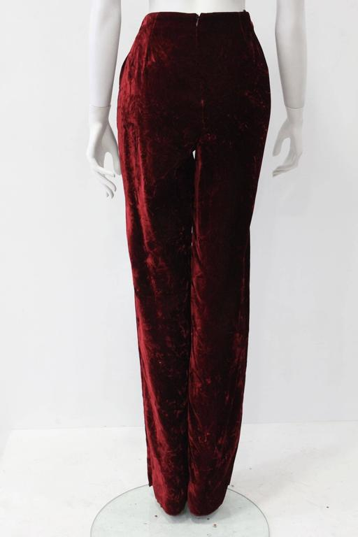 Istante By Gianni Versace Crushed Velvet Pants Fall/Winter 1997 3