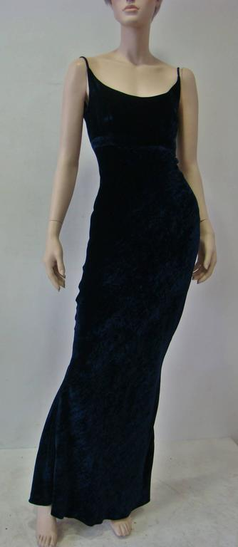 Unique Angelo Mozillo Velvet Evening Gown Fall 1998 2