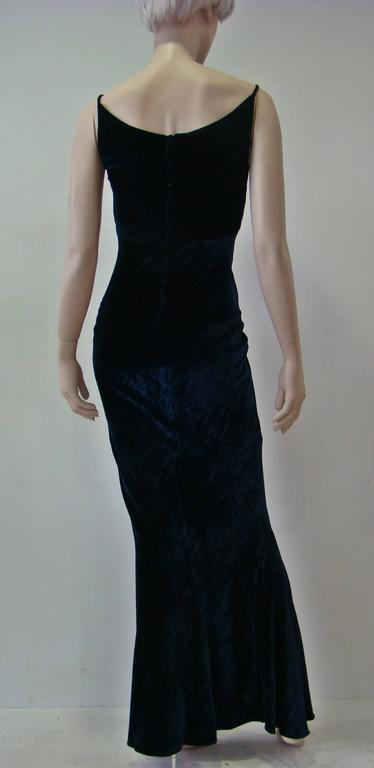 Unique Angelo Mozillo Velvet Evening Gown Fall 1998 3