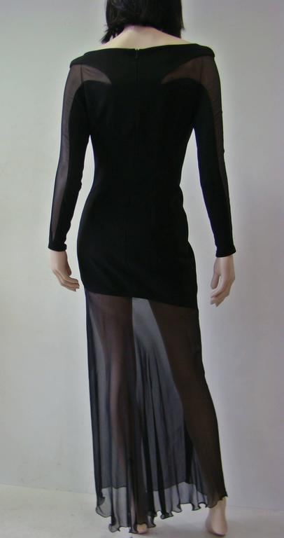 Angelo Mozzillo Laser Cut Maxi Dress In Excellent Condition For Sale In Athens, Agia Paraskevi