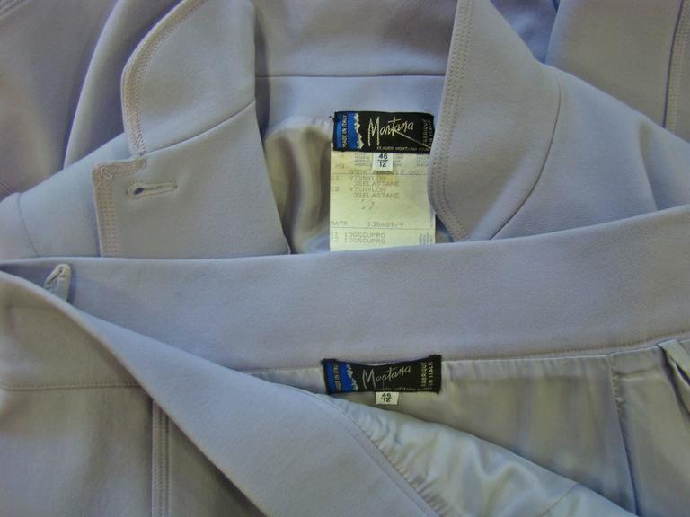 Claude Montana Lavender Skirt Suit 7