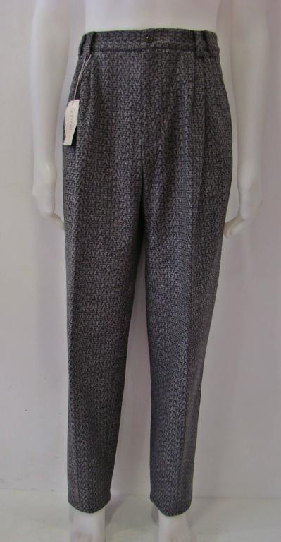 Early Gianni Versace Grey 100% Virgin Wool Pants Fall/Winter 1986