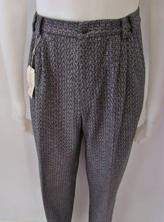 Early Gianni Versace Grey Wool Pants Fall/Winter 1986 In New never worn Condition For Sale In Athens, GR