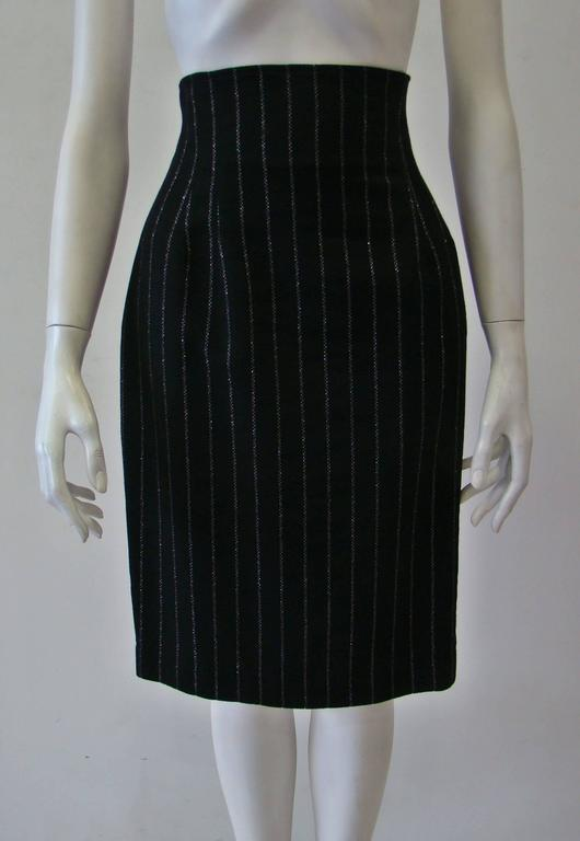 Paco Rabanne Striped High Waist Skirt 2