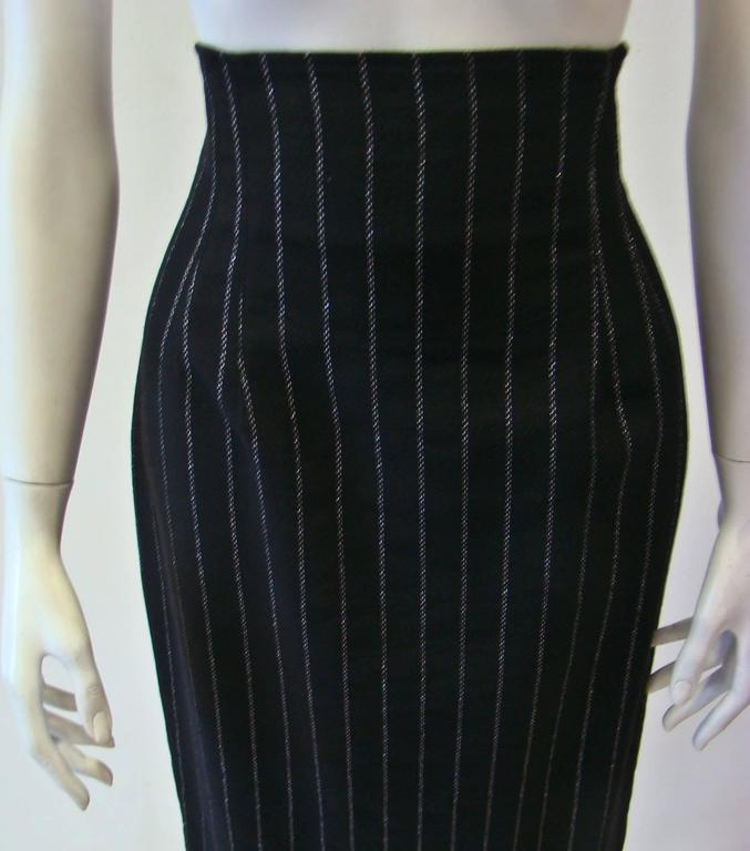 Paco Rabanne Striped High Waist Skirt 4