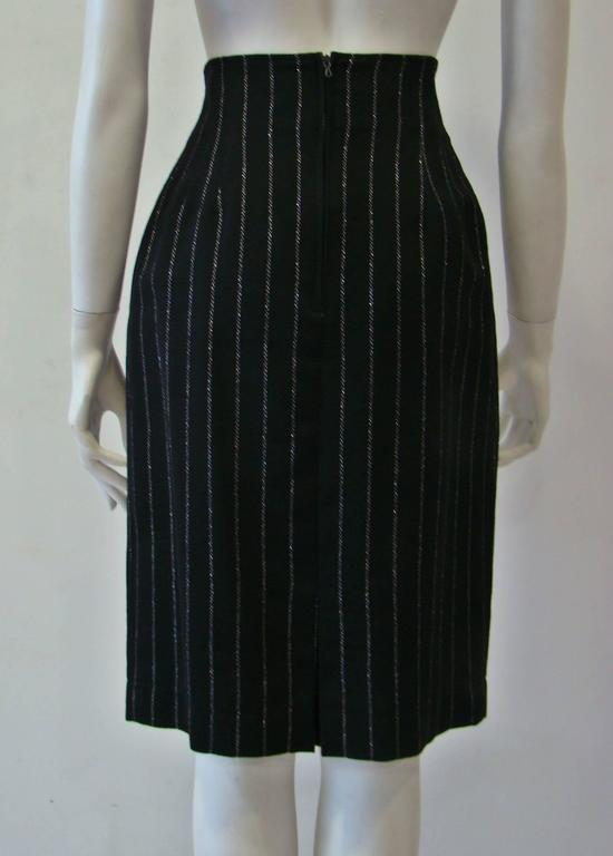 Paco Rabanne Striped High Waist Skirt 5