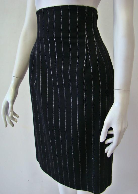 Paco Rabanne Striped High Waist Skirt 3