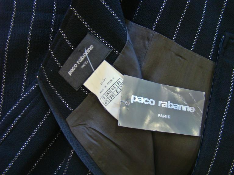 Paco Rabanne Striped High Waist Skirt 6