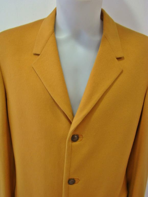 Rare Gianni Versace Mustard Wool Jacket In New Never_worn Condition For Sale In Athens, Agia Paraskevi