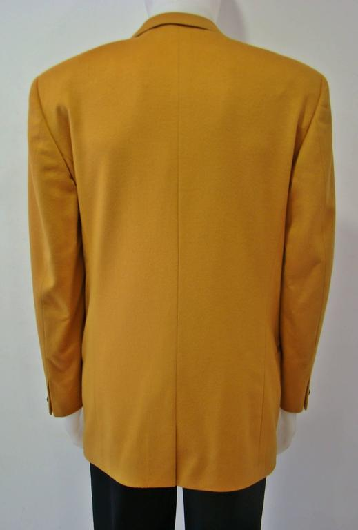 Rare Gianni Versace Mustard Wool Jacket For Sale 1