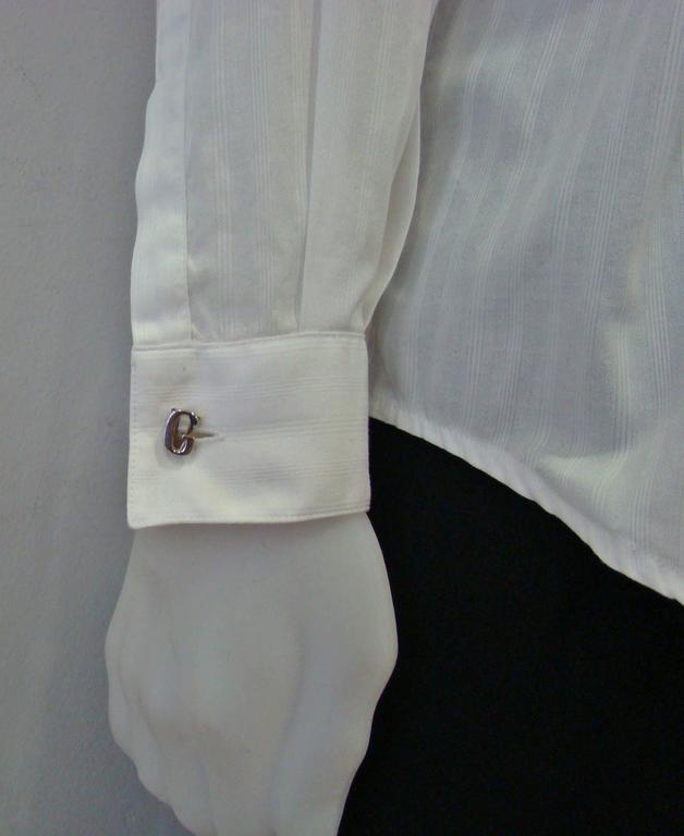Men's Gianni Versace Silver Cufflinks 1990's For Sale