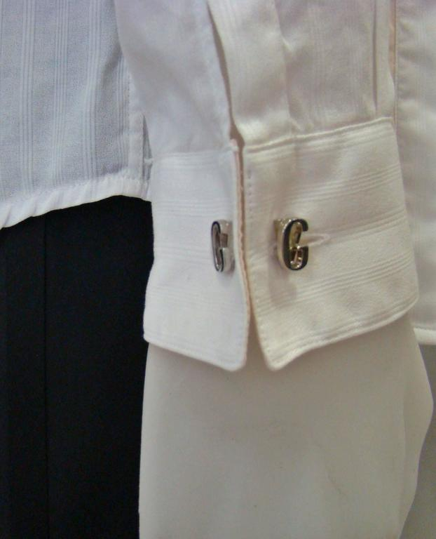 Gianni Versace Silver Cufflinks 1990's For Sale 1