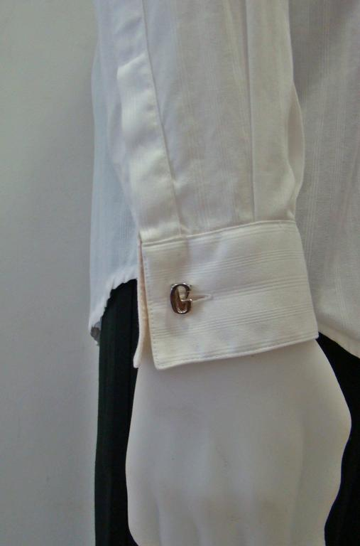 Gianni Versace Silver Cufflinks 1990's For Sale 2