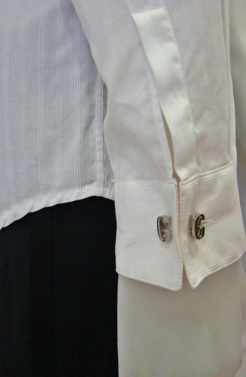 Gianni Versace Silver Cufflinks 1990's For Sale 3