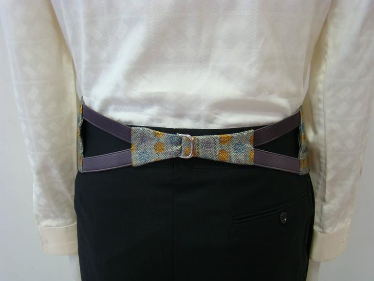 Unique Gianni Versace Medusa Print Waistband In New Never_worn Condition For Sale In Athens, Agia Paraskevi