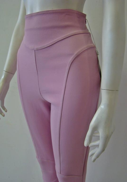 Claude Montana Pale Pink Stretch Leggings 3