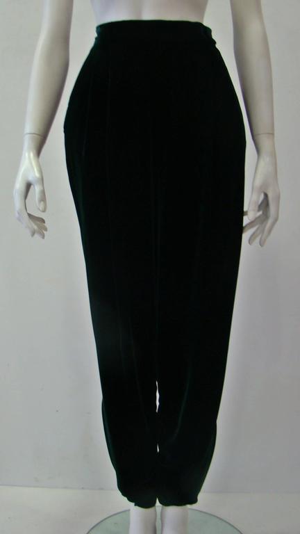 Gianni Versace Emerald Velvet Pants 2