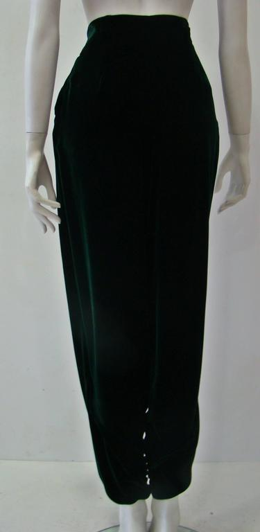 Gianni Versace Emerald Velvet Pants 5