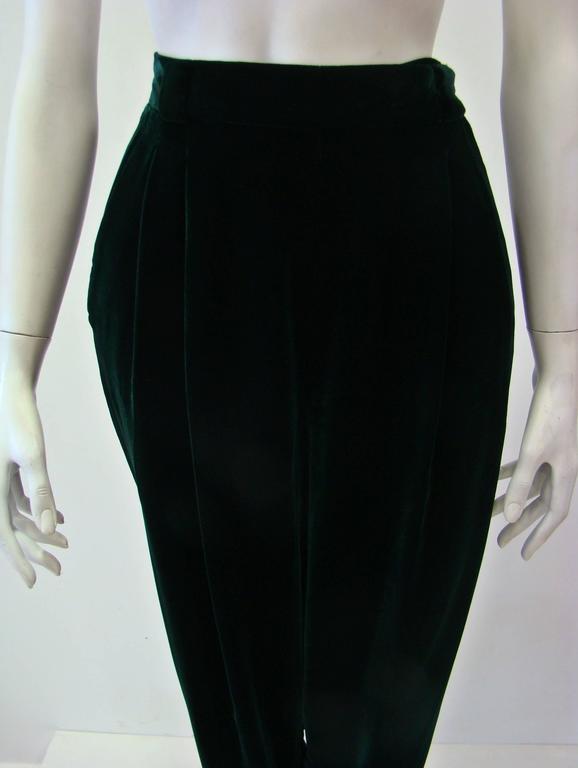 Gianni Versace Emerald Velvet Pants 3