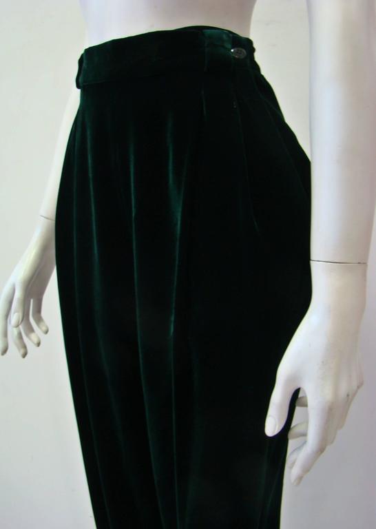 Gianni Versace Emerald Velvet Pants 4