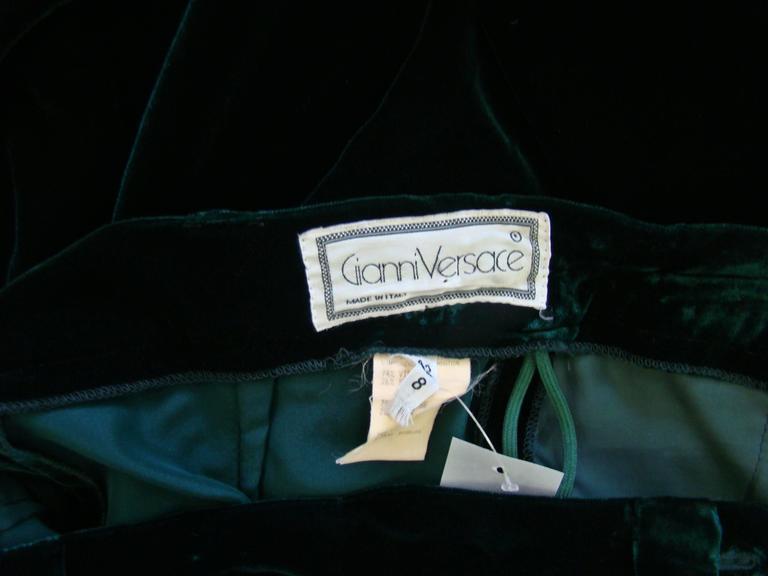 Gianni Versace Emerald Velvet Pants 6