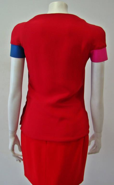 Rare Gianni Versace Couture Silk Tunic Color-Block Top Spring 1991 4