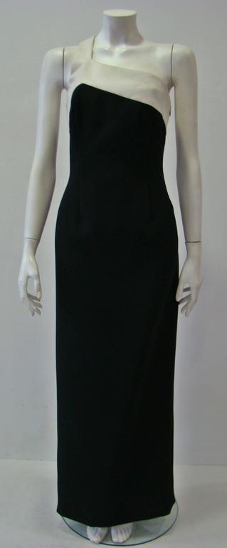 Rare Angelo Mozzillo Column Evening Gown Spring 1999 2