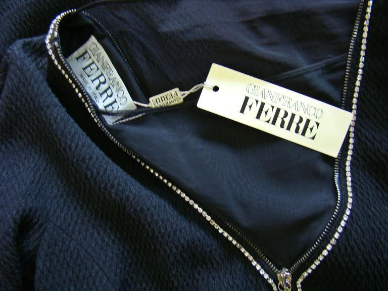 Gianfranco Ferre Zip Detail Front And Back Dress 6